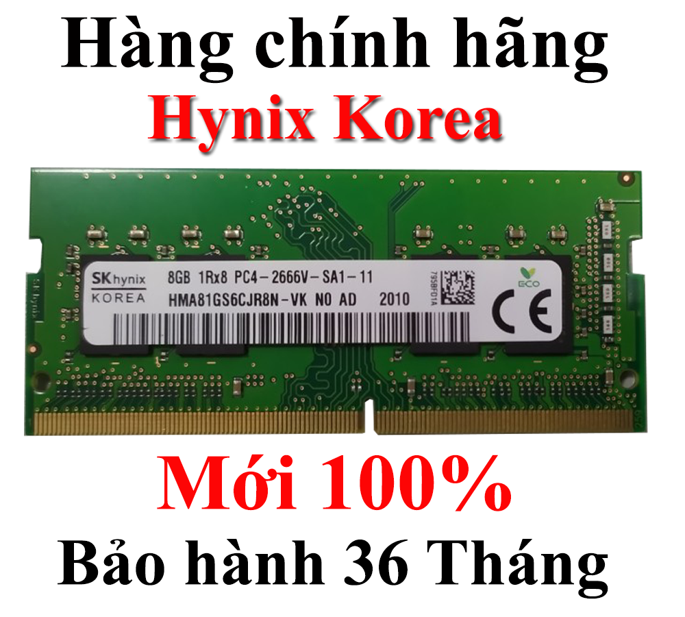 Ram Laptop Hynix DDR4 (PC4) 8GB Bus 2666 mới 100% Bảo hành 36 Tháng