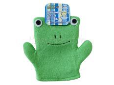 Bao tay tắm bé hình ếch/gấu bằng vải cao cấp