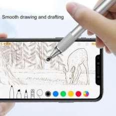 Bút cảm ứng 2 đầu 2 in 1 hiệu Baseus cho điện thoại mày tính bảng iPhone iPad Samsung window PC (đen)