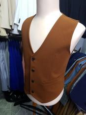 Áo gile nam form ôm body màu đồng đậm chất vải dày mịn co giãn