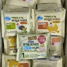 [KÈM ĐÁ KHÔ] Phô mai tách muối hữu cơ Hàn Quốc (gói 10 miếng)