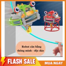Đồ chơi robot cân bằng 2 trong 1 đi trên dây, con quay vô cực thông minh độc đáo cho bé