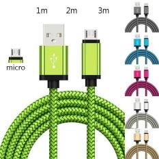 Cáp dữ liệu sạc nhanh USB Micro 1m/2M/3m, dây sạc điện thoại di động Android nhiều màu
