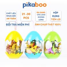 Đồ Chơi Trứng Khủng Long Pikaboo Đủ Kích Thước, Chất Liệu Nhựa ABS Cao Cấp An Toàn, Bền, Dẻo, Mô Hình Đồ Chơi Khủng Long Trứng Bất Ngờ Thu Hút Sự Chú Ý Của Trẻ, Quà Tặng Hoàn Hảo Cho Bé