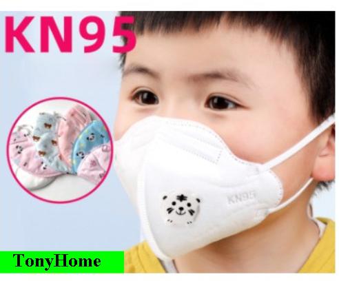 Khẩu trang y tế chống bụi mịn, khẩu trang KN95 có van thở cho bé