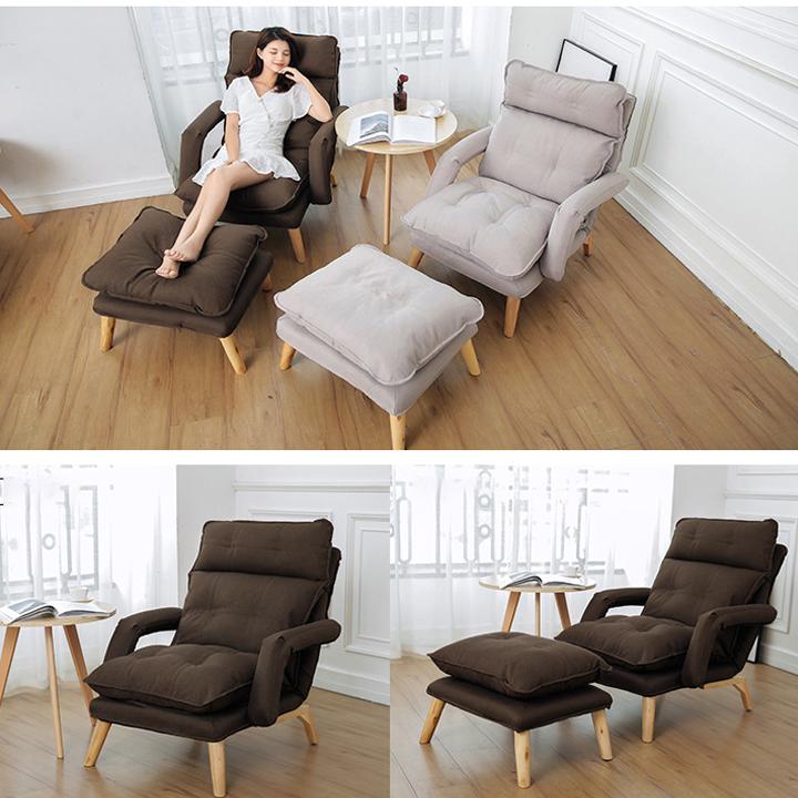 Ghế sofa thư giãn, ghế lười kèm đôn ngả thành giường đa năng