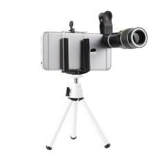 Lens 20x cho điện thoại, tặng kèm kẹp, tripod và giá đỡ điện thoại