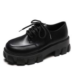 combo 2 đôi Giày Oxford Ulzzang Da Độn Đế Lạ