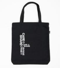 Túi tote vải Canvas SS2 Care & Share ĐEN/BE thương hiệu Coolmate