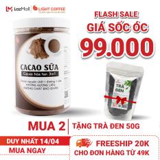 [MUA 2 TẶNG TRÀ ĐEN 50G] Bột CACAO SỮA hòa tan 3 in 1 Light Cacao đậm đà thơm ngon,dùng pha uống liền, đặc biệt không pha trộn hương liệu, 100% từ cacao nguyên chất – hũ 550g