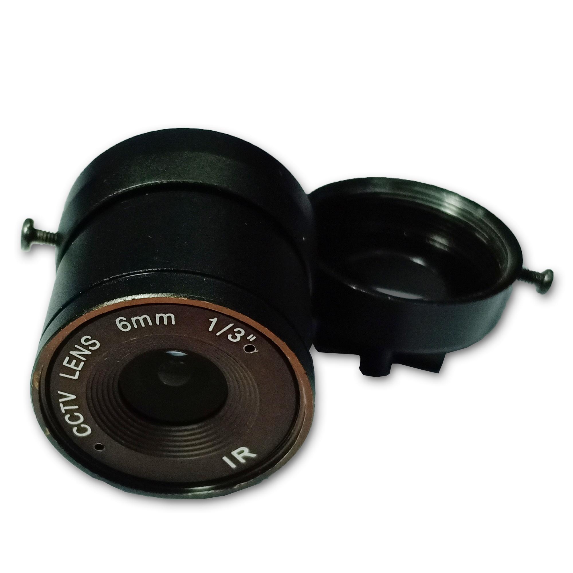Lens máy ảnh Fixed 6mm IR 1/3 inch CCTV
