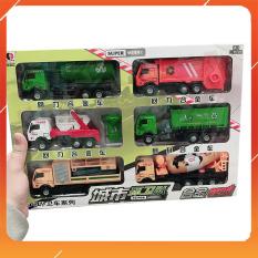 Đồ Chơi Noel – Bộ 6 Xe Chở Rác Super – Đồ Chơi Trẻ Em Toy Mart