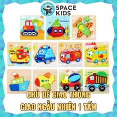 Đồ chơi trẻ em Space Kids 1 Bảng ghép hình bằng gỗ 3d không có khớp nối cho trẻ em SK03, chất liệu gỗ tự nhiên, nhiều màu sắc, Đồ chơi gỗ trí tuệ