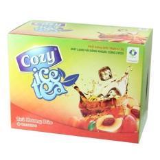 Trà hòa tan Cozy Ice Tea hương đào hộp 18 gói x 15g