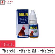 Thuốc trị viêm phổi, viêm túi khí, viêm khớp cho gà đá – Oliver Dolin 10ml