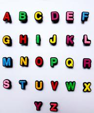Sticker nhựa Jibbitz gắn dép Crocs bảng chữ cái
