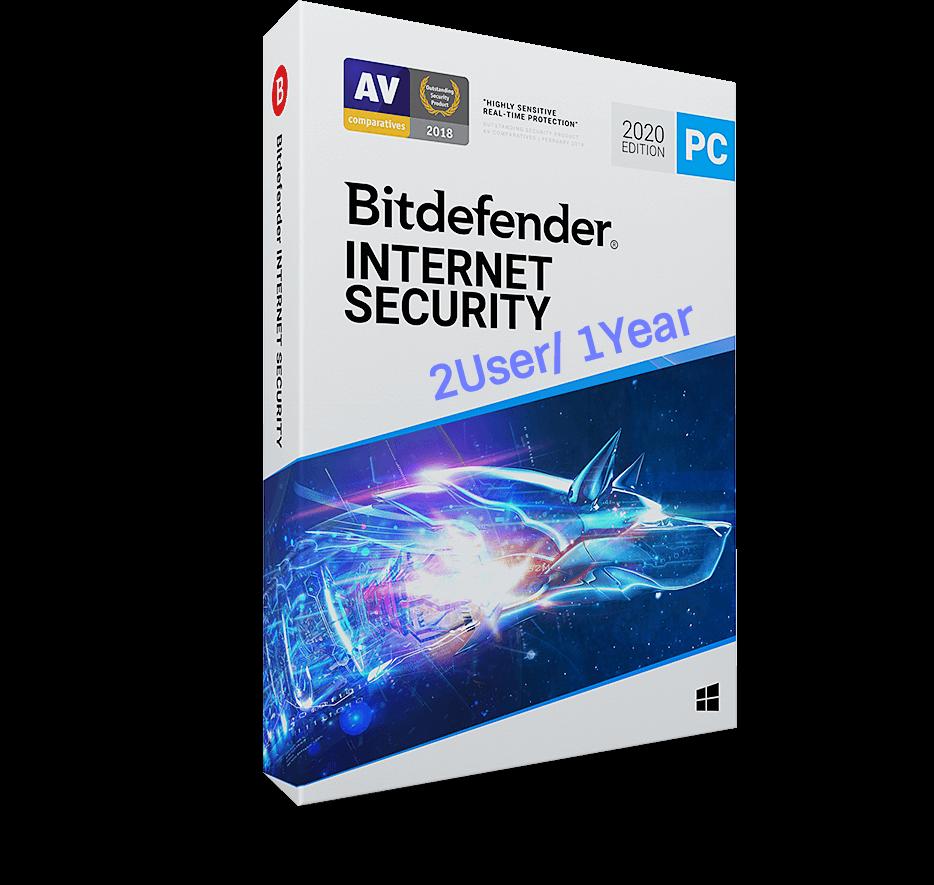Phần Mềm Diệt Virus Bitdefender Internet Security 2020 2users/ 1năm