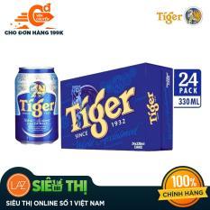 Thùng 24 lon Tiger thường – lon 330ml