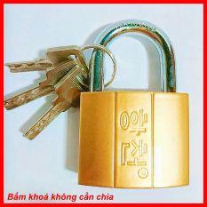 Ổ khóa cửa vàng, Ổ khóa chống trộm 50F, ( bấm khoá không cần chìa )