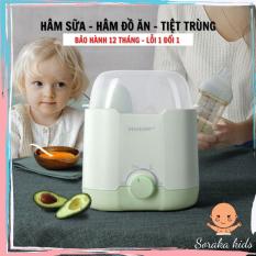 máy hâm và tiệt trùng sữa đa năng, máy ủ nóng sữa cho bé vô cùng tiện lợi dễ sử dụng, bảo hành 12 tháng – SORAKAKIDS
