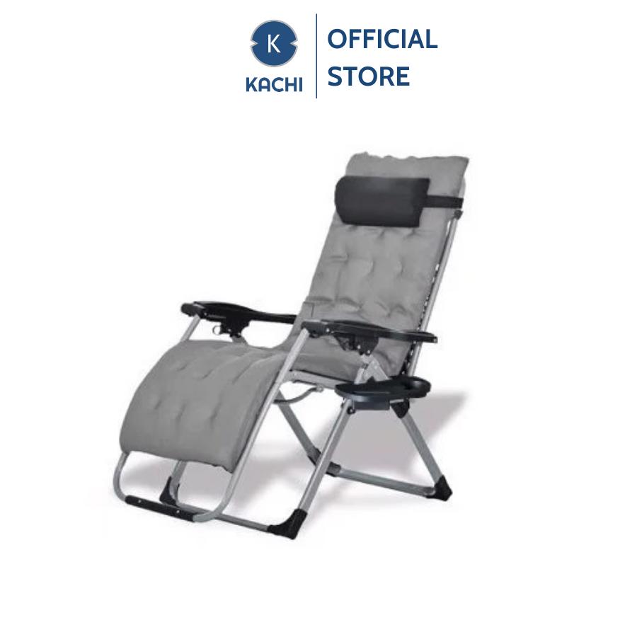 Ghế xếp thư giãn, ghế xếp văn phòng có đệm Kachi – Màu xám bạc