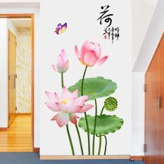 Decal dán tường Hoa sen hồng