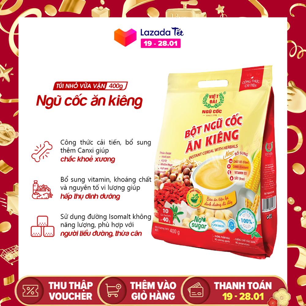 Bột ngũ cốc ăn kiêng Việt Đài túi 400g (công thức cải tiến)