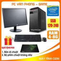 Bộ case máy tính văn phòng CPU Dual core E7-8xxx / G620 / Ram 4GB / HDD 250GB-500GB / SSD 120GB-240GB + Màn hình + [QUÀ TẶNG: Bộ phím chuột không dây, bàn di] – OZ