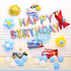 Set trang trí sinh nhật bóng chủ để xe như hình (Kèm Bơm + Keo) – Hello Baby