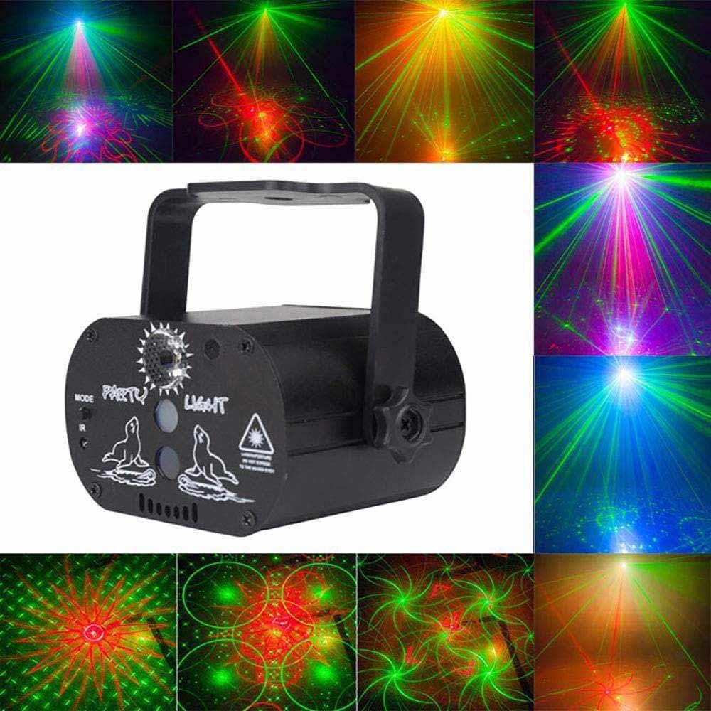 60 Mô hình Máy chiếu Laser LED Đèn sân khấu Ánh sáng RGB Điều khiển từ xa Đảng Câu lạc...