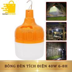 Đèn Bulb Tích Điện 40W Tiết Kiệm Năng Lượng, Chống Nước + Kèm Sạc Điện Thông Minh