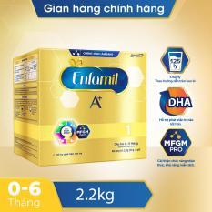 [FREESHIP] Sữa bột Enfamil 1 cho trẻ 0-6 tháng tuổi (2.2kg – hộp 4 túi thiếc 550g)