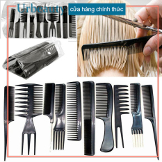 【Urbeauty】10Pcs chiếc nhựa thân thiện với môi trường Lược chống điện Massage tĩnh Lược Chải tóc cắt