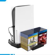 [Nhập ELJUN21 giảm 10% tối đa 200k đơn từ 99k]Đế Tản Nhiệt Đứng Cho Máy Game PS5/Playstation 5 Kiêm Sạc Cho Tay Cầm PS5 – KCD