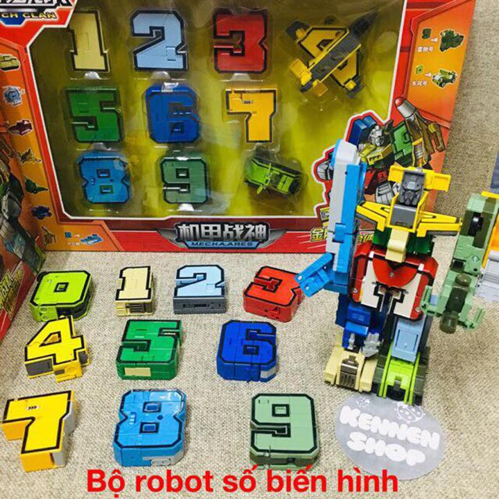 Bộ dồ chơi robot số biến hình