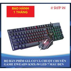 [BÁN CHẠY] Bộ Bàn Phím Giả Cơ Eweadn Led 7 Màu – Tặng chuột chuyên game KMX-50