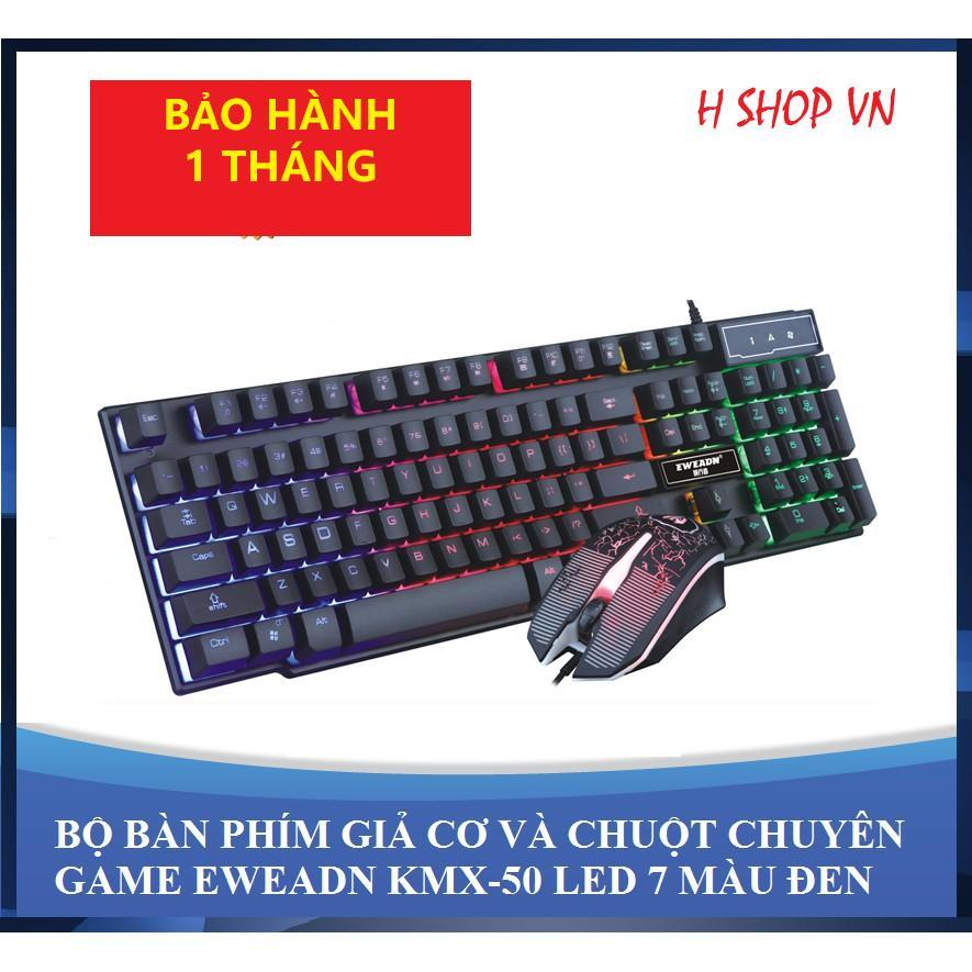[BÁN CHẠY] Bộ Bàn Phím Giả Cơ Eweadn Led 7 Màu - Tặng chuột chuyên game KMX-50