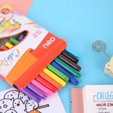 DELI Bút màu nước 1.0mm, nhiều màu – 12/18/24 cái/hộp EC10000/EC10010/EC10020