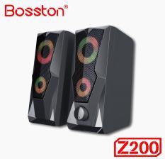 Loa vi tính 2.0 cao cấp Bosston Z200 12W led RGB 7 màu Âm thanh cực hay (Đen)