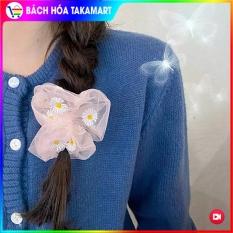 19 màu+Video: Cột tóc Scrunchies Hoa Cúc Họa Mi, dây buộc tóc Hoa Cúc, dây cột tóc SCRUNCHIES Vải Voan Hoa cúc Họa mi Hàn Quốc, dây buộc tóc, thun buộc tóc, đồ cột tóc nữ, do cot toc – Bách hóa Takamart