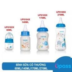 Bình sữa UPASS cổ thường 60ml, 140ml, 170ml Thái Lan