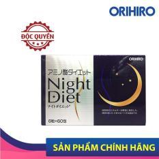 Viên Uống Giảm Cân Night Diet Orihiro Hộp 60 Gói Giúp Giảm Cân Ban Đêm, Hỗ Trợ Đẹp Da, Ngủ Ngon