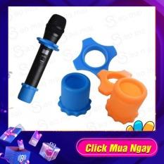 Bộ 4 cái Silicone cao su Chống Trượt Chống Lăn Vòng Micro Cầm Tay Phụ Kiện Cho Karaoke ( nhiều màu )