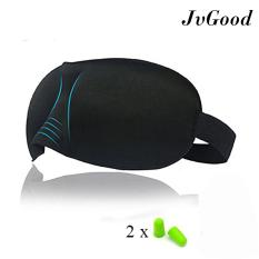 JvGood 3D Sleep Cover Lightweight and Comfortable Sleeping Eyes Shield Cover Shade Cover for Travel Nap Meditation sleep helper for Men and Women with 4 Earplugs