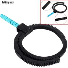 Jettingbuy dây đeo bánh răng có thể điều chỉnh linh hoạt W/tay cho máy ảnh DSLR Follow focus zoom lens