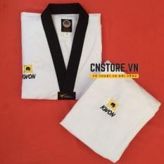 Quần Áo Võ – Võ Phục Taekwondo Cổ Đen Vải Sọc Kwon Dày Dặn Bền Chắc