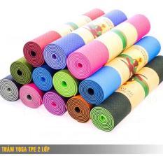 Thảm tập Yoga 2 lớp 6mm Đài Loan + Tặng kèm túi đựng thảm (giao màu ngẫu nhiên)