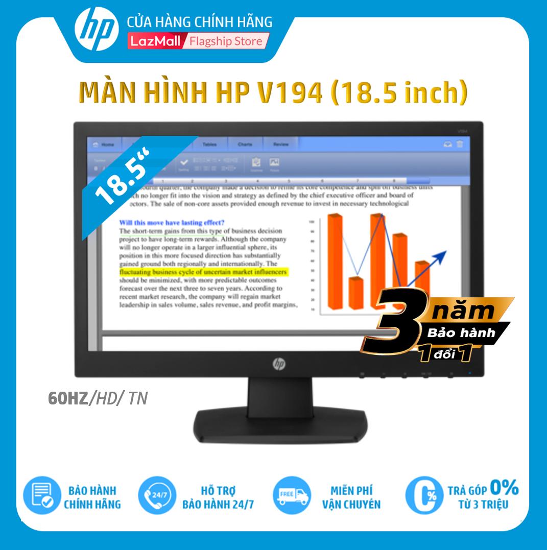 [HPNOV15 Giảm 15% tối đa 1 triệu 500 nghìn] Màn hình HP V194 (18.5 Inch/HD/60Hz/TN/Black-V5E94AA) – Hàng Chính Hãng