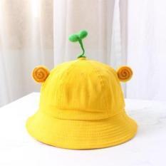 Nón Bucket Vàng gắn Cây Mầm (Size người lớn)_FREESHIP TPHCM
