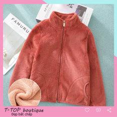 Áo khoác lông cho bé gái, bé trai, áo khoác lót lông dày cho bé mặc mùa đông